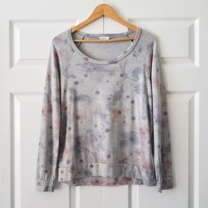 Splendid Corrine Watercolor Light Sweatshirt | S